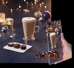 coffee advert xmas augmented reality