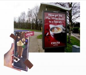 costa coffee billboard